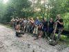 Vyčistenie kanála a odstránenie konárov zasahujúcich do cesty k sv.Anne, júl 2020