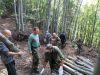 Príprava palivového dreva pre kaštieľ v Kluknave, september 2020