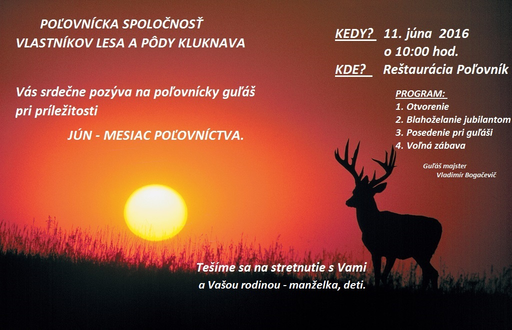 Jún - mesiac poľovníctva