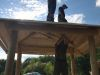 Výstavba senníka pod Bradlom