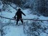 Cestou ku krmelcu po bohatej snehovej nádielke, február 2018